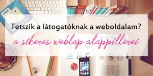 profi weboldal alapjai